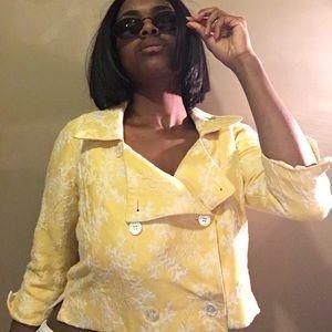 Cropped Yellow blazer